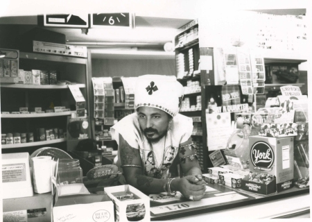 Hennock, in his store on Commonwealth Ave, Boston, ca. 1992