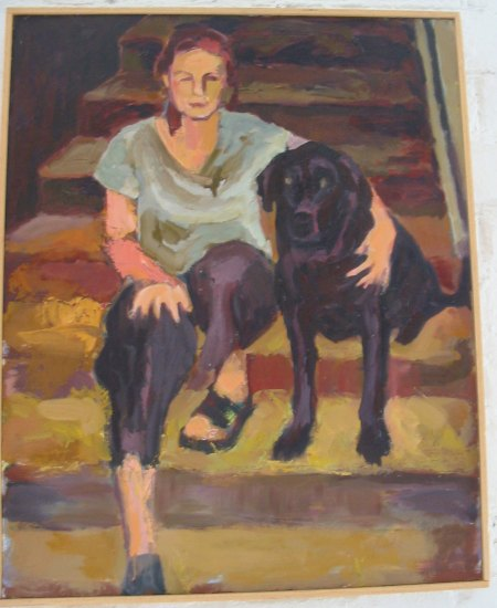 Jamoka and me, painted by Fran Kidder