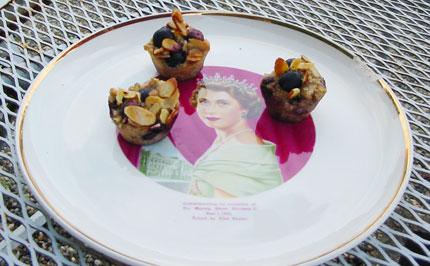 Sugar-free Gluten-free blueberry muffinettes