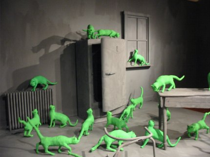 Sandy Skoglund Radioactive Cats Smith College Museum of Art