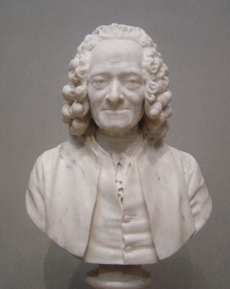 Bust of Voltaire, of course.