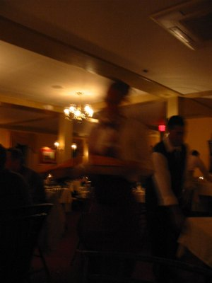 The dining room was busy indeed...