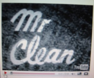 Mr Clean TV Commercial, ca prehistoric time