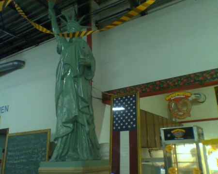 Statue of Flea Market Liberty