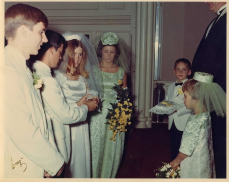 Age 5? Flower girl at a wedding for Candy and Mike. That's Matt beyond me.