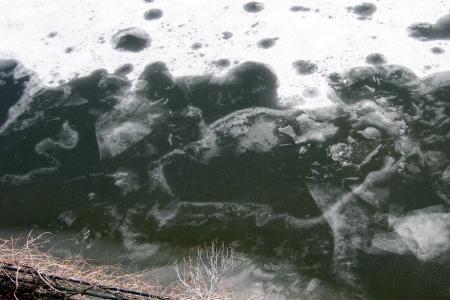 Jamoka as self-created as an ice/canal sculpture January 2006