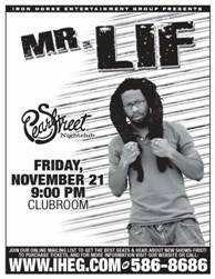mr. Lif at Pearl Street, the poster