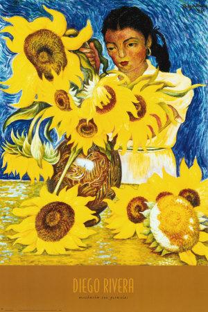 Muchacha con Girasoles, Diego Rivera