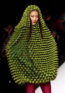crunchy green dress