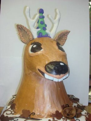I should have gotten him a Deer cake to celebrate a week since surgery.