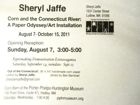 Sheryl Jaffe art installation reception postcard