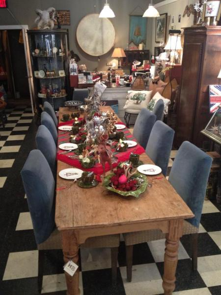 10 foot table from 1893 for the holidazzze at hunter bee